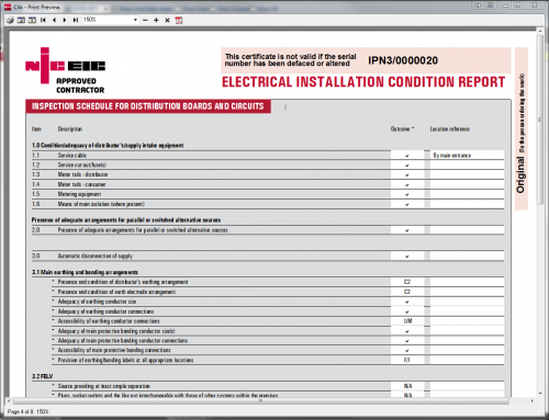 Niceic Electrical Installation Certificate Sample - Somurich com