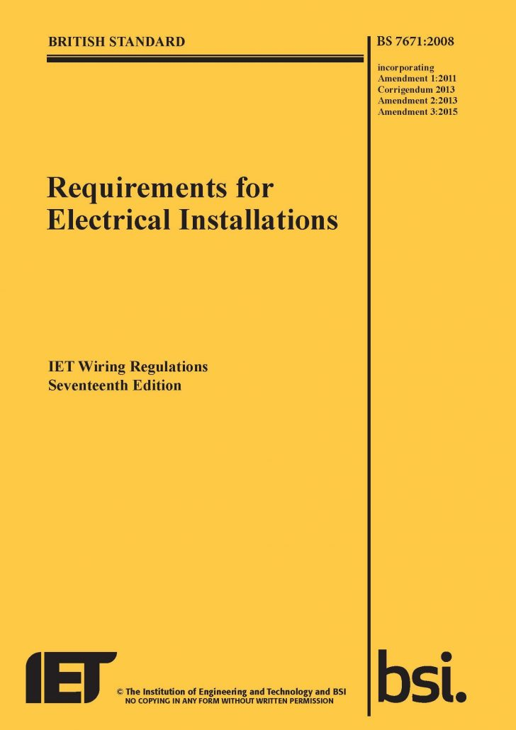 Wiring Regulations Changes  Static Electrical Services Blog